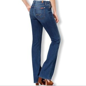 7 For All Mankind Classic Bootcut Dark Wash Jeans